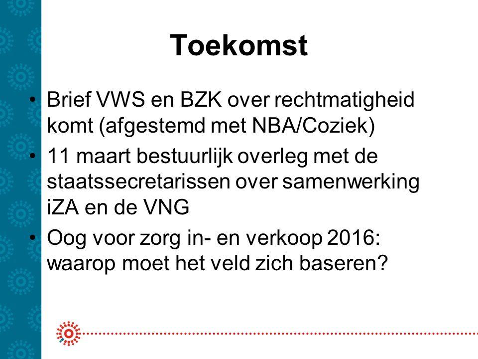 Toekomst Brief VWS en BZK over rechtmatigheid komt (afgestemd met NBA/Coziek)