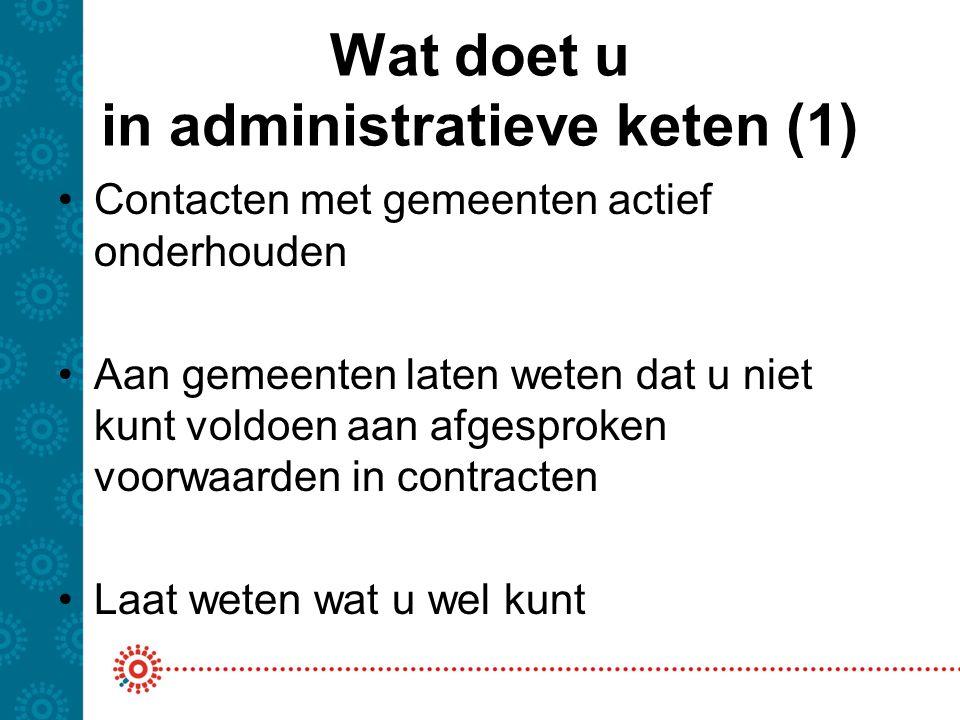Wat doet u in administratieve keten (1)