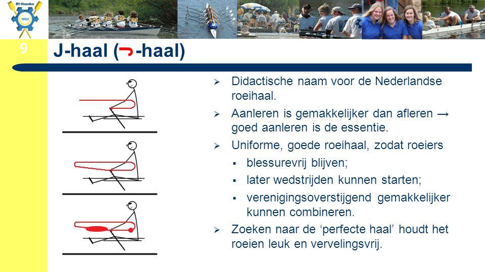 J-haal ( -haal) J Didactische naam voor de Nederlandse roeihaal.