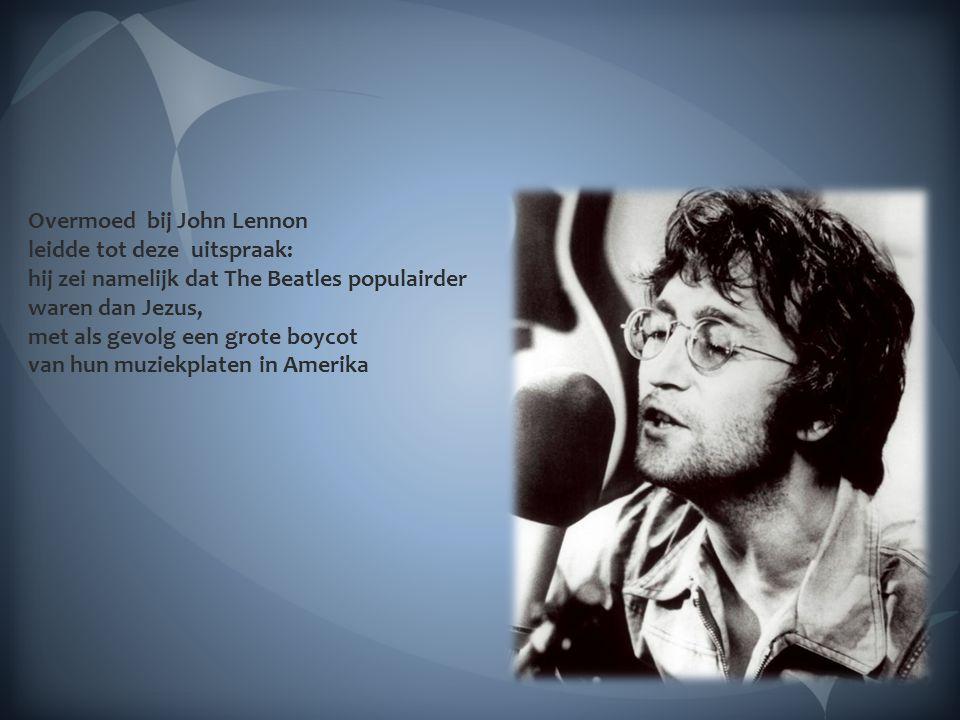 Overmoed bij John Lennon