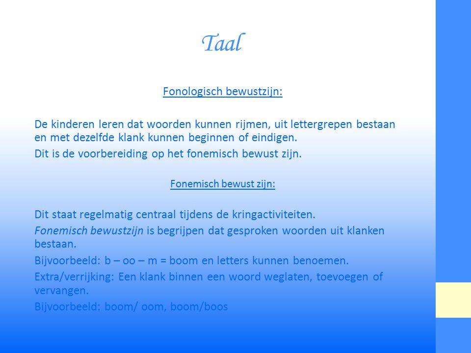 Taal Fonologisch bewustzijn: