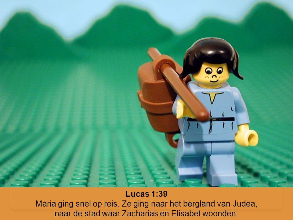 Maria ging snel op reis. Ze ging naar het bergland van Judea,