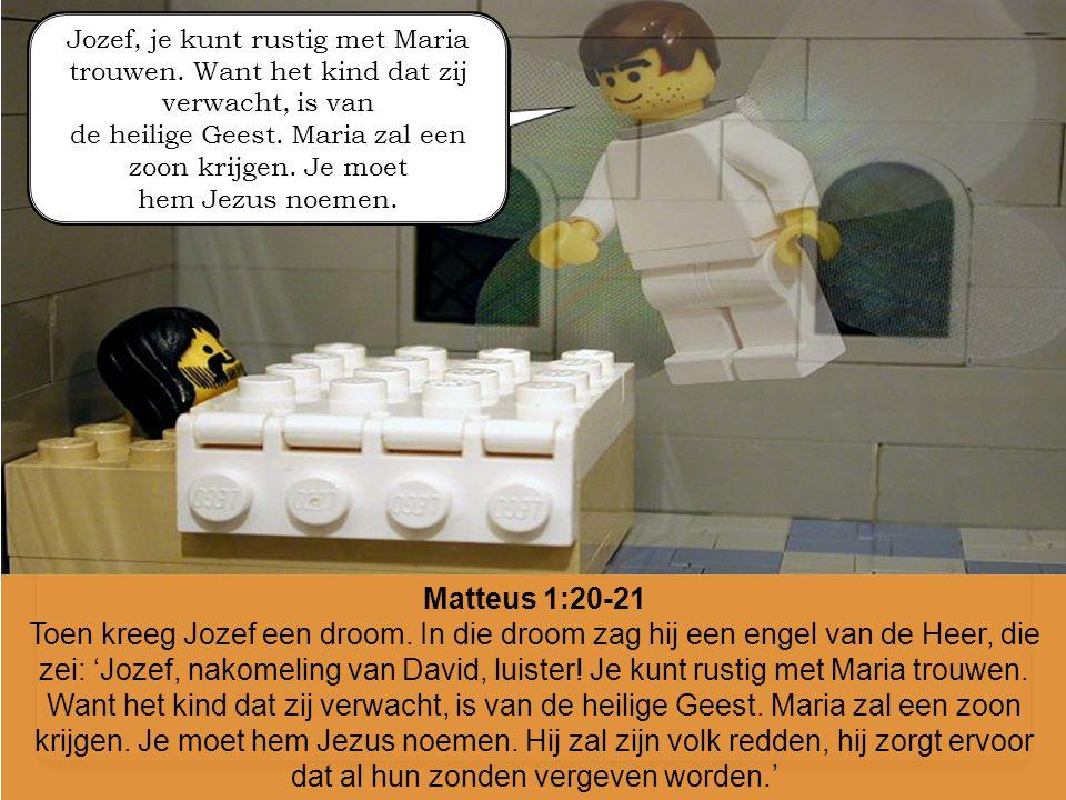 Jozef, je kunt rustig met Maria trouwen