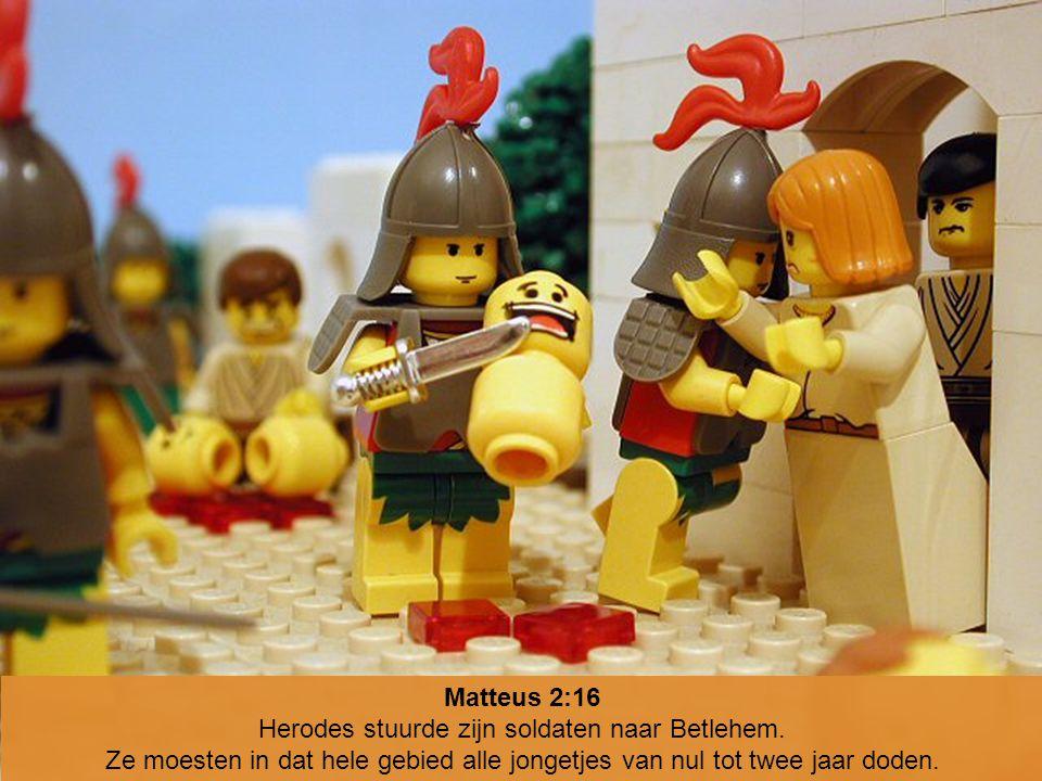 Herodes stuurde zijn soldaten naar Betlehem.