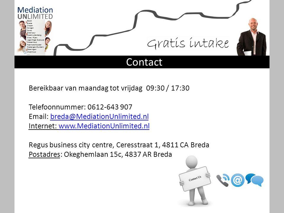 Contact Bereikbaar van maandag tot vrijdag 09:30 / 17:30