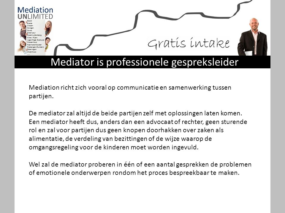 Mediator is professionele gespreksleider