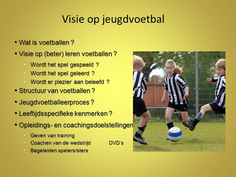 Visie op jeugdvoetbal Wat is voetballen