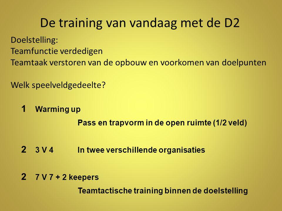 De training van vandaag met de D2