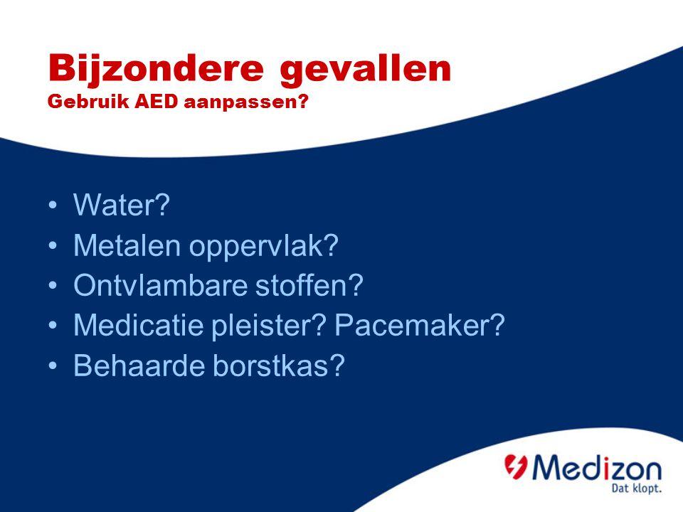 Bijzondere gevallen Gebruik AED aanpassen