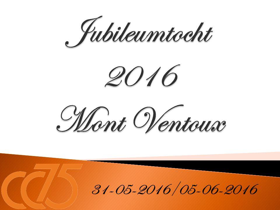 Jubileumtocht 2016 Mont Ventoux