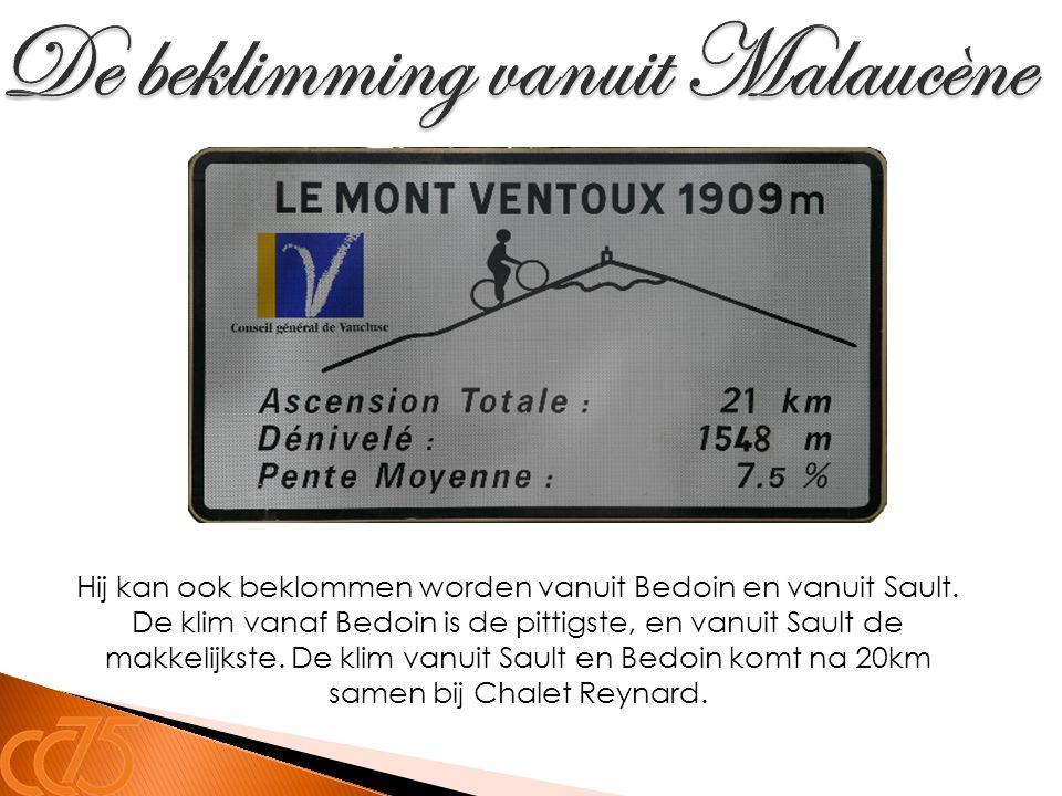 De beklimming vanuit Malaucène