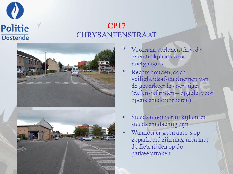 CP17 CHRYSANTENSTRAAT Voorrang verlenen t.h.v. de oversteekplaats voor voetgangers.
