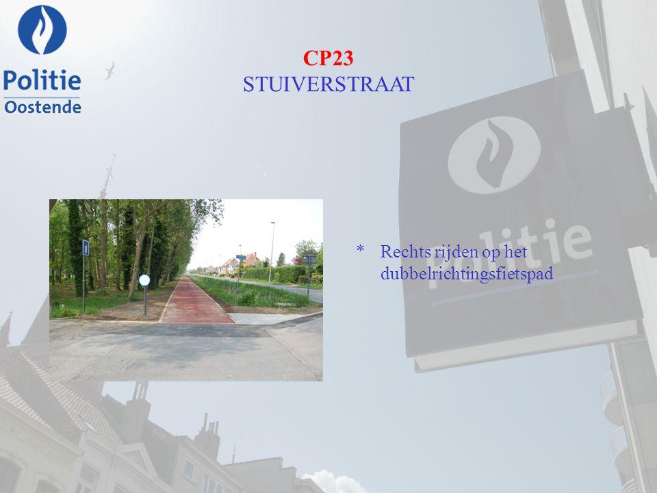 CP23 STUIVERSTRAAT Rechts rijden op het dubbelrichtingsfietspad