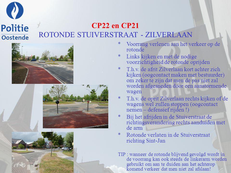 CP22 en CP21 ROTONDE STUIVERSTRAAT - ZILVERLAAN