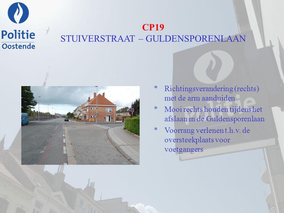 CP19 STUIVERSTRAAT – GULDENSPORENLAAN