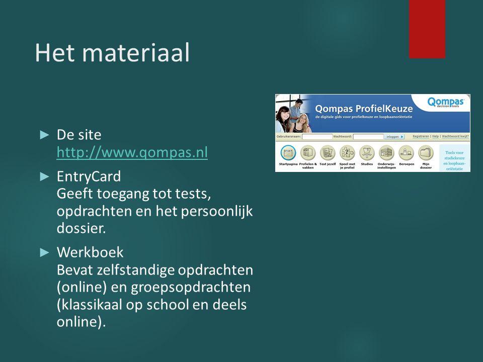 Het materiaal De site http://www.qompas.nl