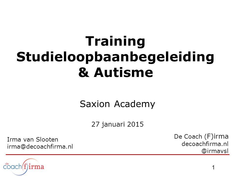 Training Studieloopbaanbegeleiding & Autisme