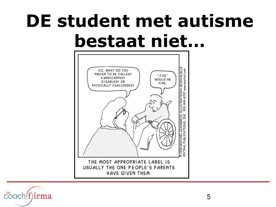 DE student met autisme bestaat niet…