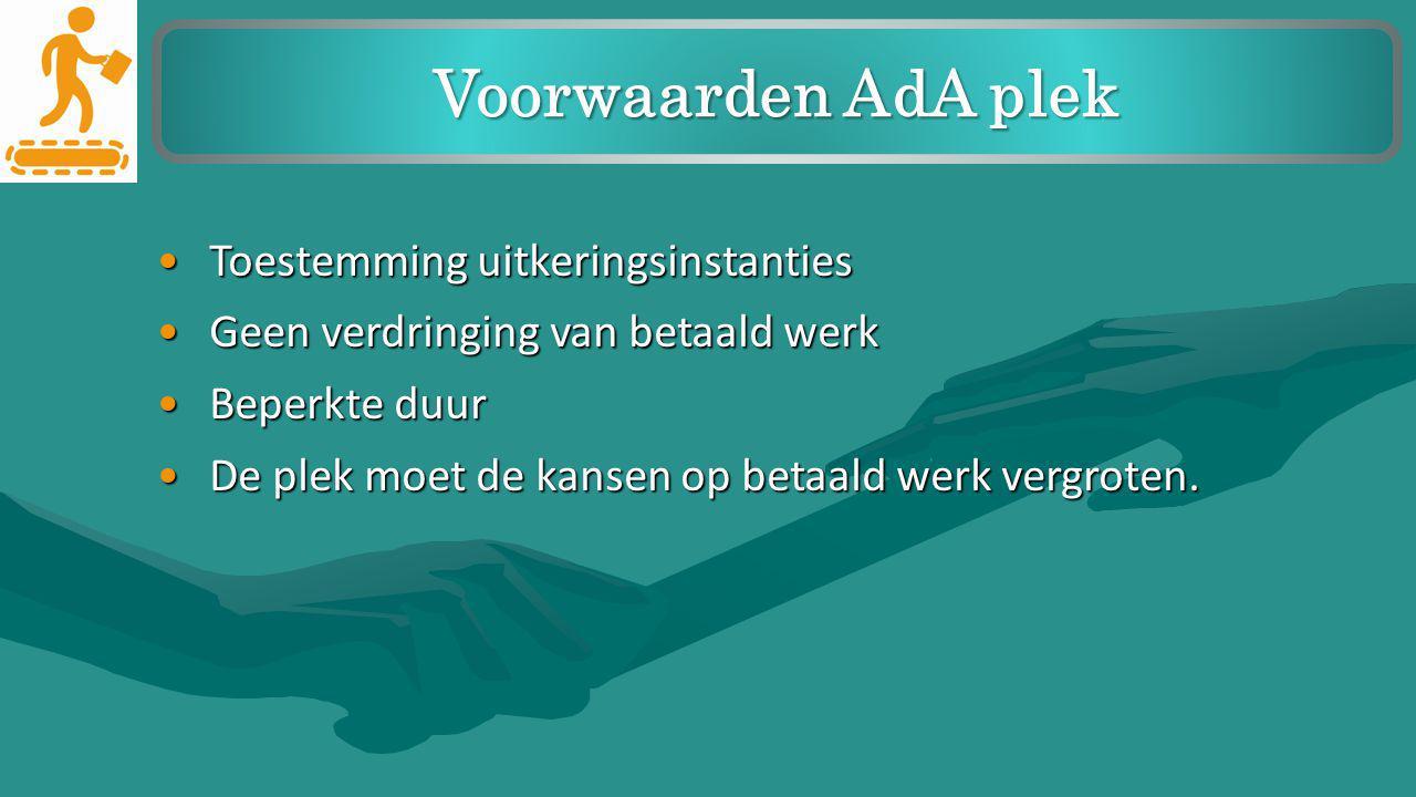 Voorwaarden AdA plek Toestemming uitkeringsinstanties