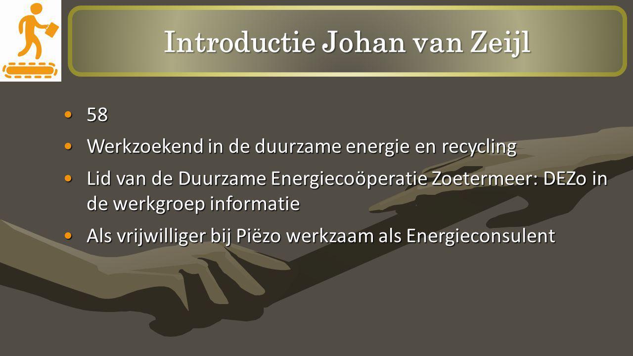 Introductie Johan van Zeijl