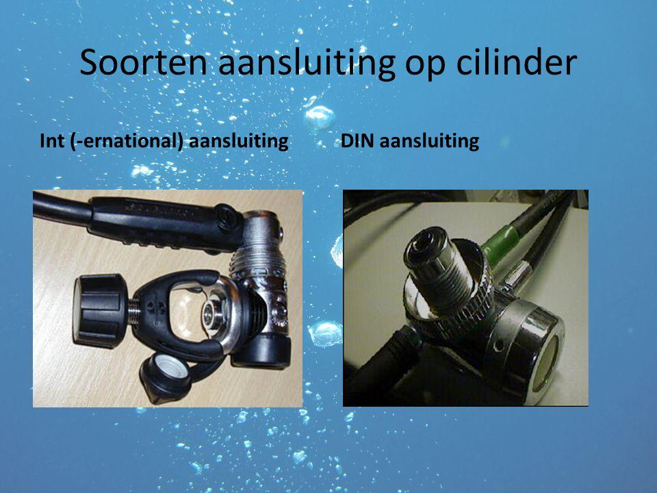 Soorten aansluiting op cilinder