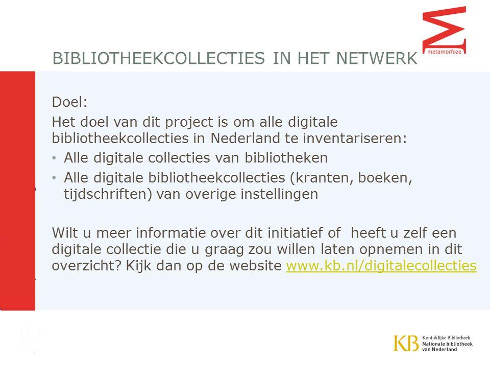 Bibliotheekcollecties in het netwerk