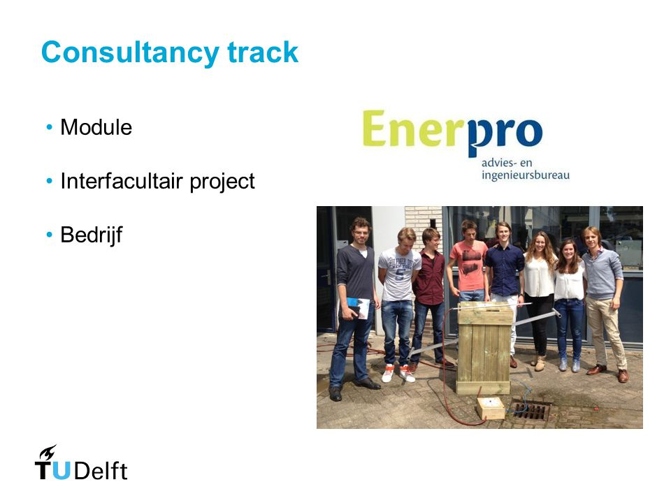 Consultancy track Module Interfacultair project Bedrijf