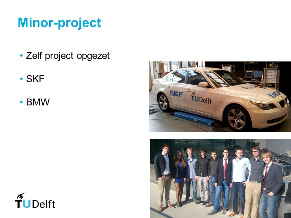 Minor-project Zelf project opgezet SKF BMW