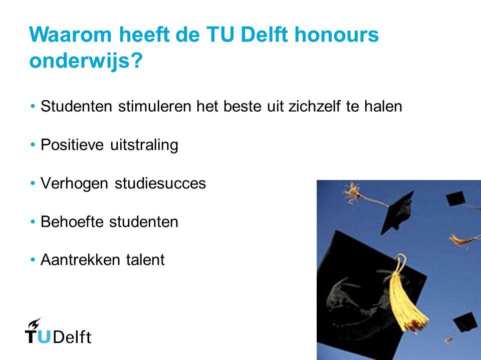 Waarom heeft de TU Delft honours onderwijs