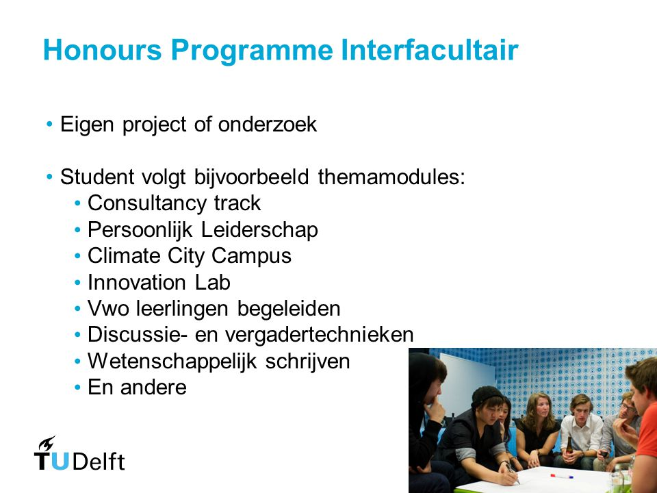Honours Programme Interfacultair