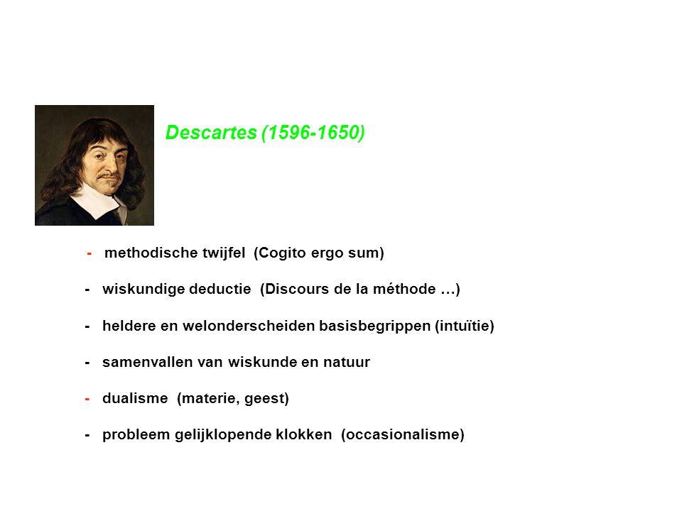 Descartes (1596-1650) - wiskundige deductie (Discours de la méthode …)