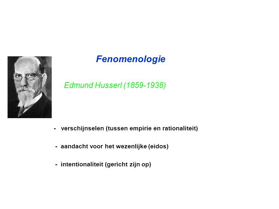 Fenomenologie Edmund Husserl (1859-1938)