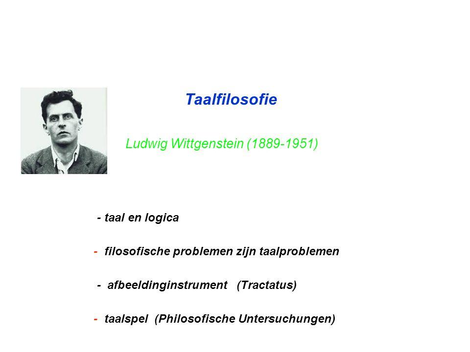 Taalfilosofie Ludwig Wittgenstein (1889-1951) - taal en logica