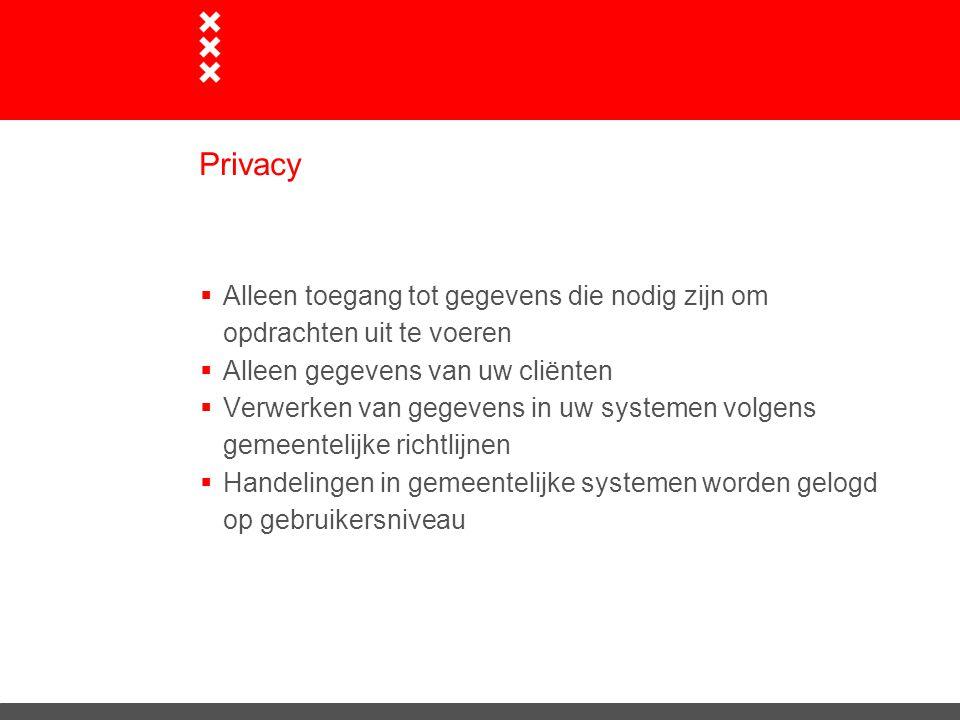 Privacy Alleen toegang tot gegevens die nodig zijn om opdrachten uit te voeren. Alleen gegevens van uw cliënten.