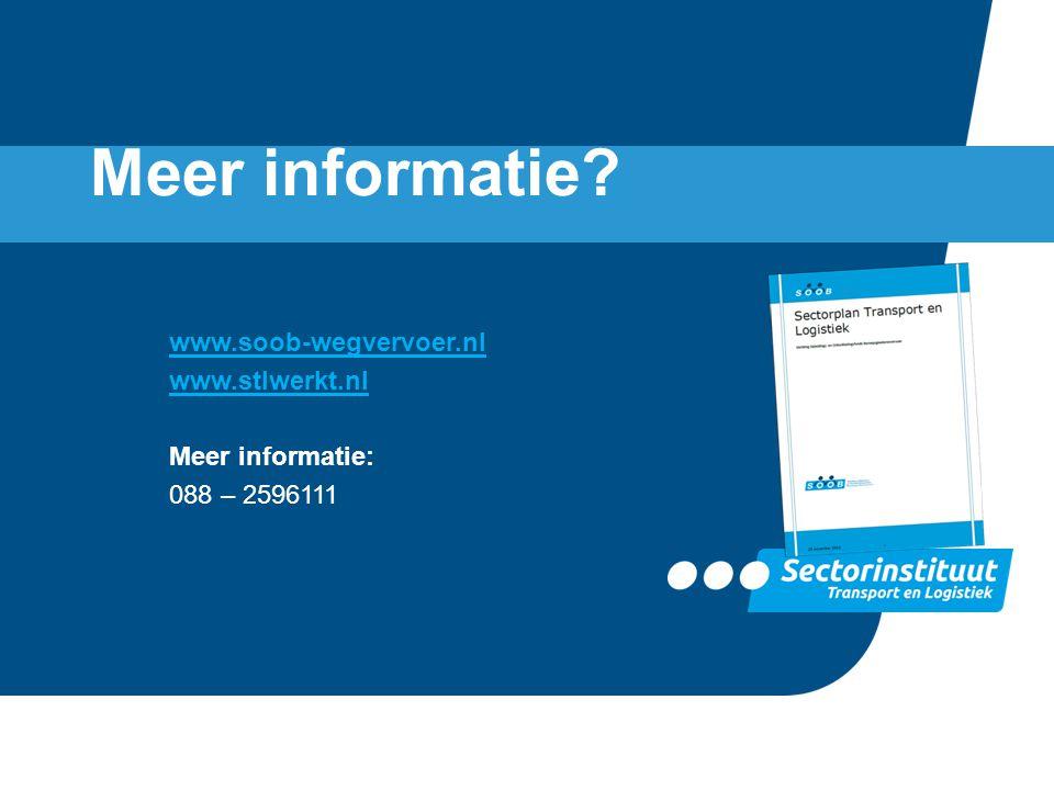 www.soob-wegvervoer.nl www.stlwerkt.nl Meer informatie: 088 – 2596111