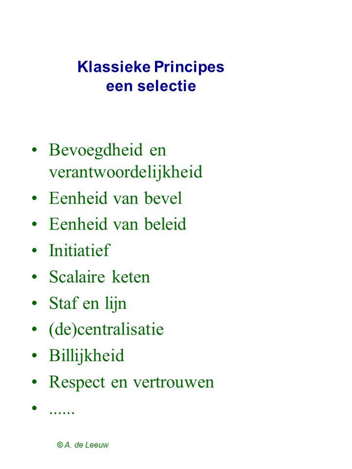 Klassieke Principes een selectie