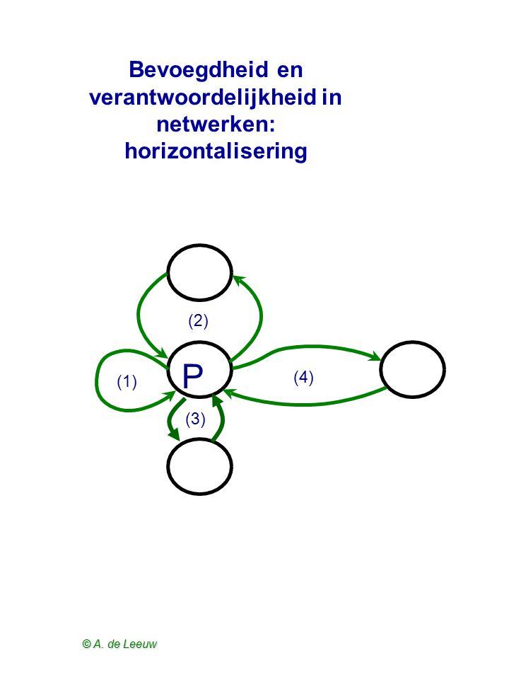 Bevoegdheid en verantwoordelijkheid in netwerken: horizontalisering