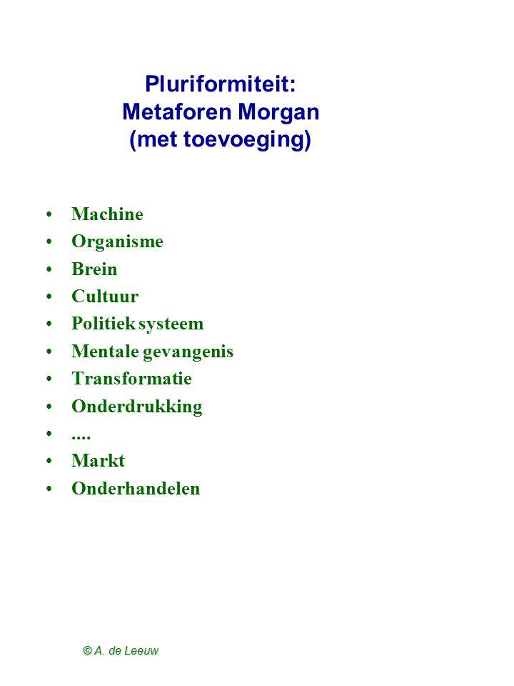 Pluriformiteit: Metaforen Morgan (met toevoeging)