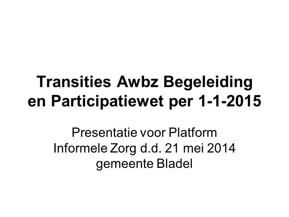 Transities Awbz Begeleiding en Participatiewet per 1-1-2015