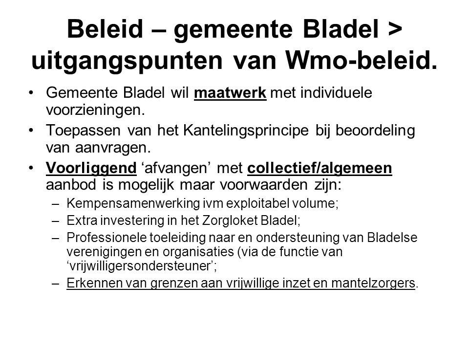 Beleid – gemeente Bladel > uitgangspunten van Wmo-beleid.