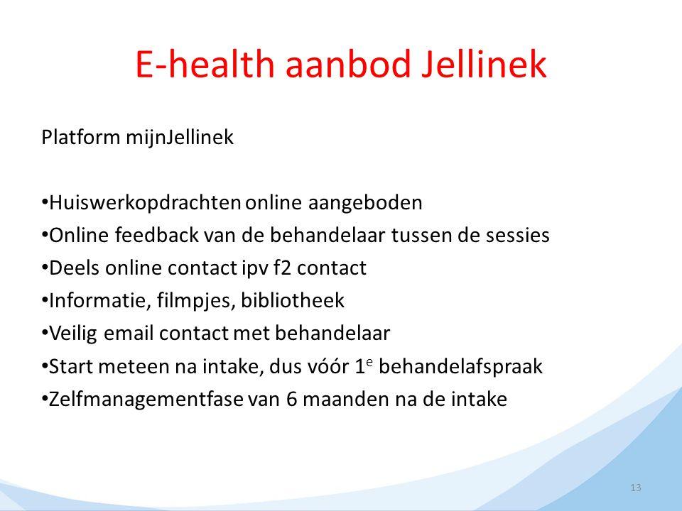E-health aanbod Jellinek