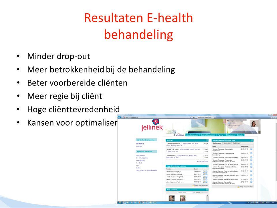 Resultaten E-health behandeling