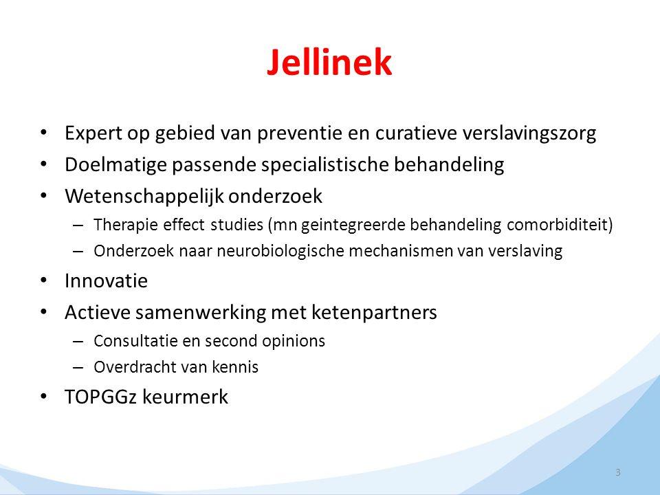 Jellinek Expert op gebied van preventie en curatieve verslavingszorg
