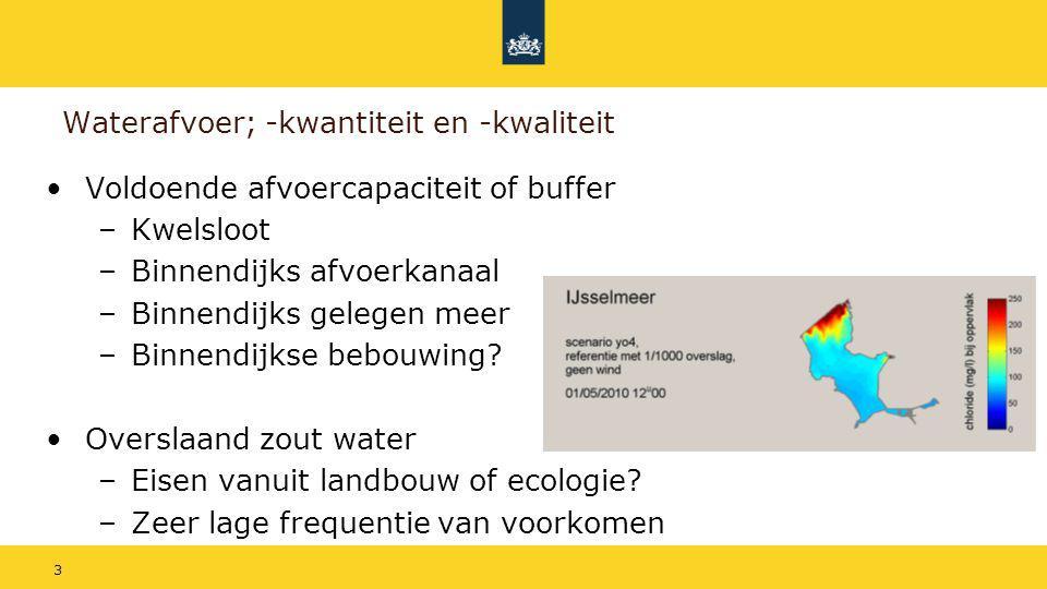 Waterafvoer; -kwantiteit en -kwaliteit