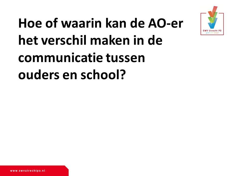 Hoe of waarin kan de AO-er het verschil maken in de communicatie tussen ouders en school