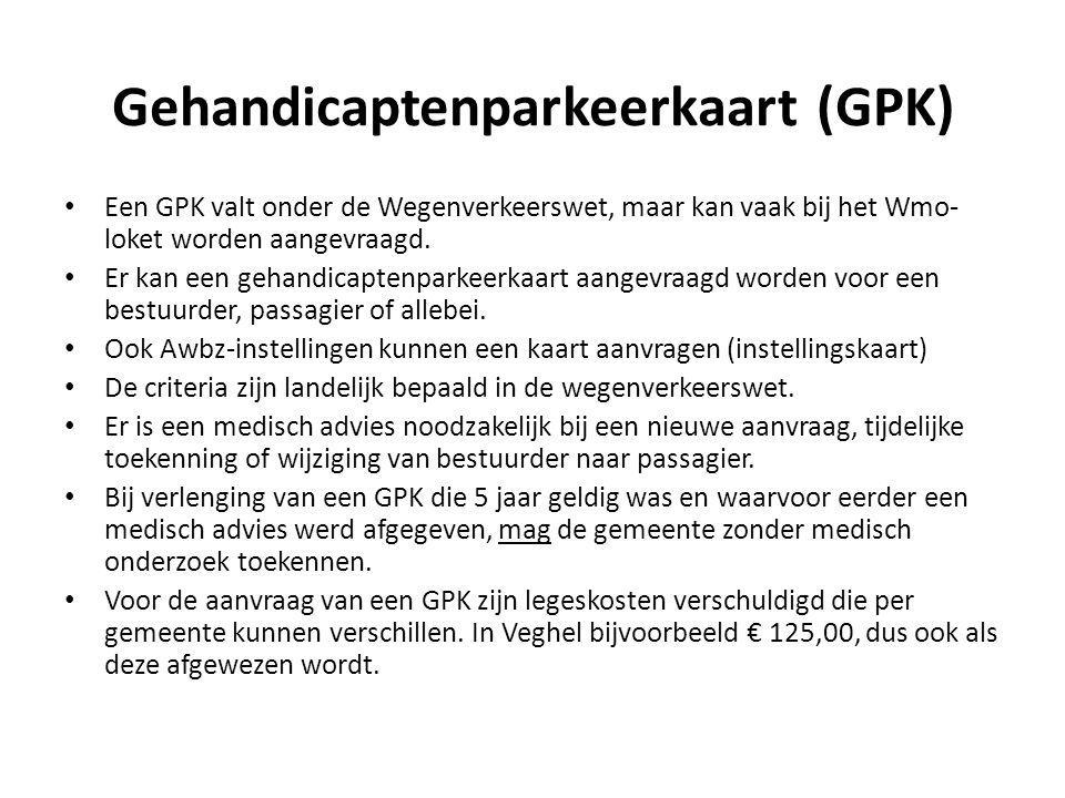 Gehandicaptenparkeerkaart (GPK)