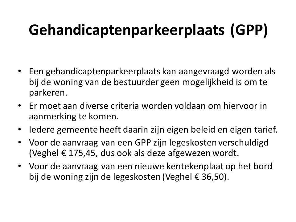 Gehandicaptenparkeerplaats (GPP)