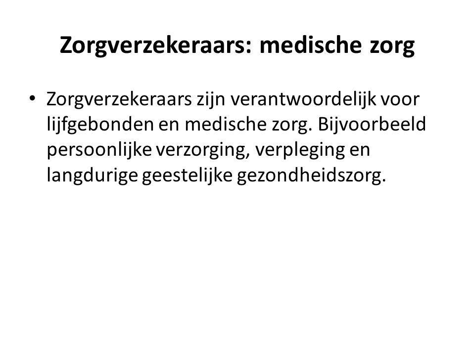 Zorgverzekeraars: medische zorg