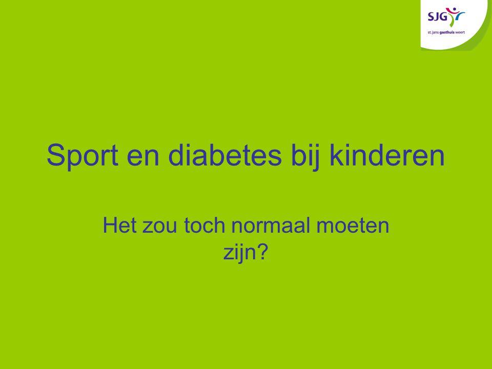 Sport en diabetes bij kinderen