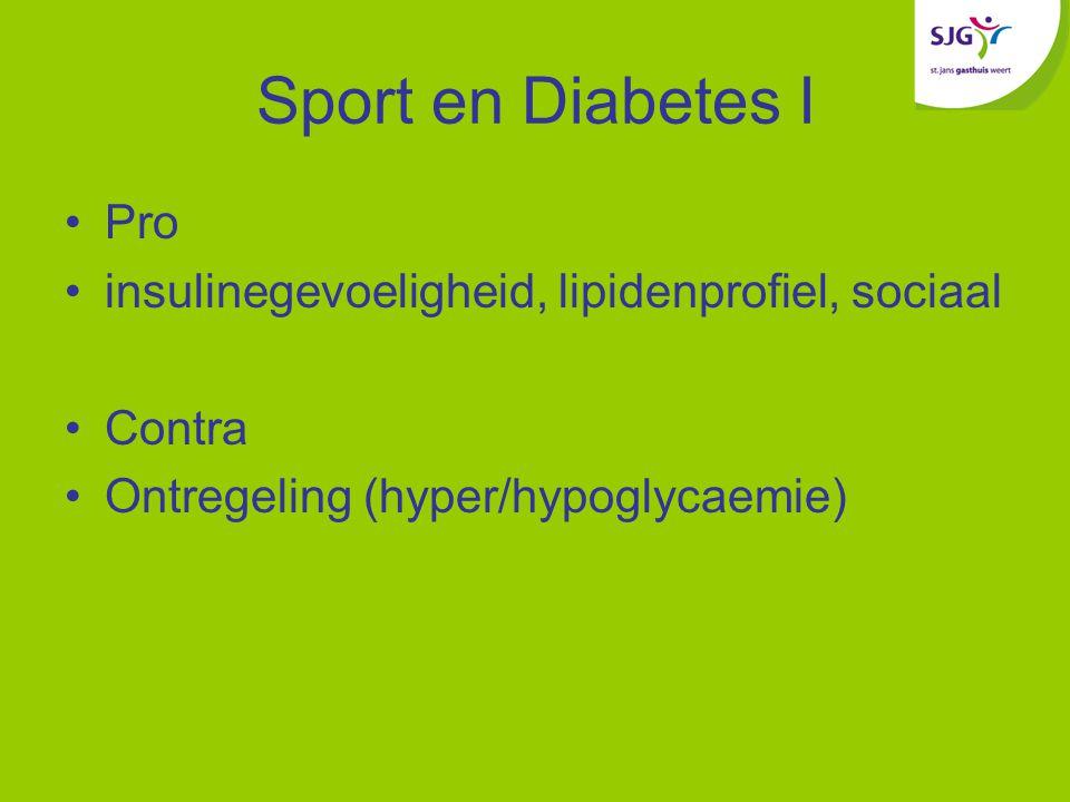 Sport en Diabetes I Pro insulinegevoeligheid, lipidenprofiel, sociaal